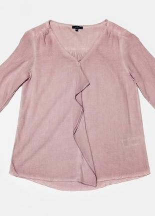 Вискозная пудровая блузка блуза tom tailor вискоза пог 48 см