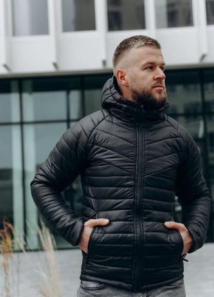 Мужская зимняя  черная куртка  с карманом🆕 теплая куртка до -2...