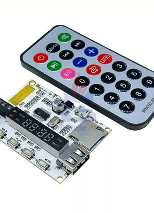 Bluetooth MP3 декодер модуль FM радио USB TF Micro SD. Блютуз