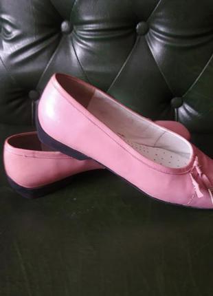 Кожаные туфельки,  балетки caprice размер 41. 7,5