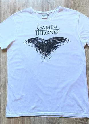 Мужская хлопковая футболка game of thrones