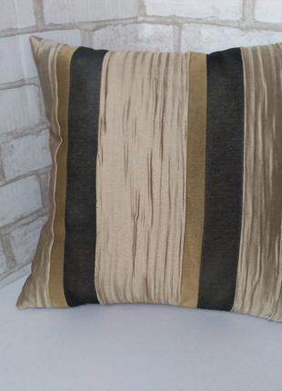 Интерьерная декоративная подушка в полоску, 40см х 40см