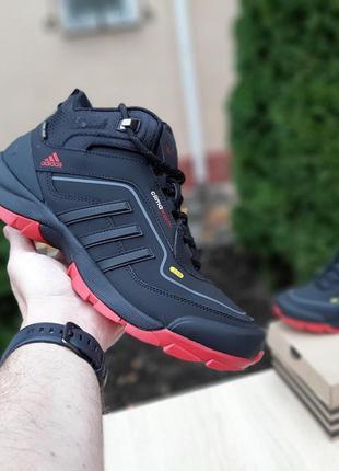 Кроссовки мужские adidas climawarm 350 чёрные с красным ❄️