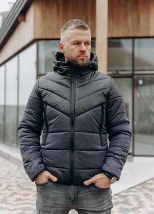 Мужская зимняя (євро) куртка  с карманами🆕 теплая куртка до -1...