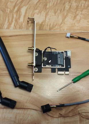 Адаптер для подключения M.2 NGFF модуля Wi-Fi к PCI-e х1