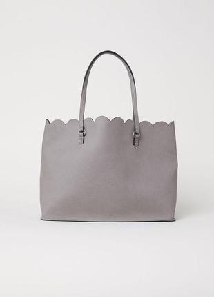 H&m милая вместительная сумка шоппер для покупок