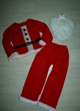 Карнавальный костюм санты, деда мороза 3-5 лет