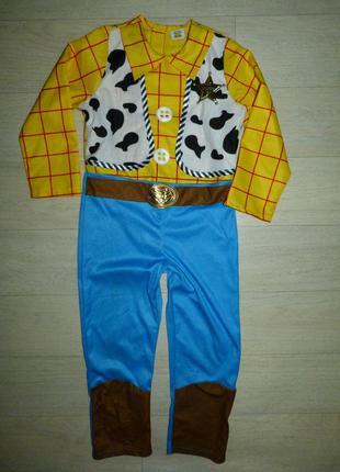 Карнавальный костюм ковбоя вуди tot story от disney 6-7 лет