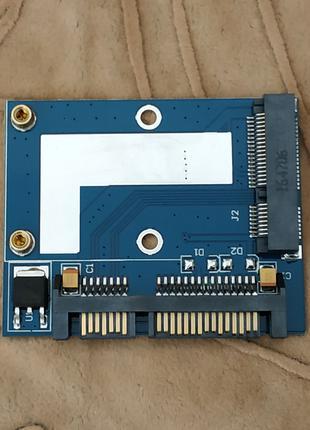 Переходник адаптер для SSD mSATA на SATA (mini формат)