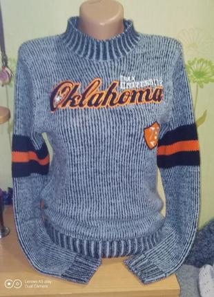 Замечательный акриловый лёгкий свитер парню -s- 158-164