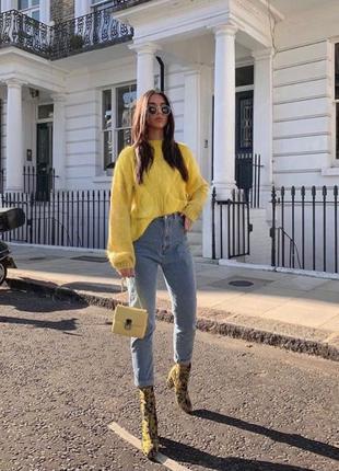 Желтый вязаный свитер, koton