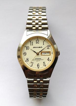Milan мужские часы из сша дата день недели браслет twist-o-fle...