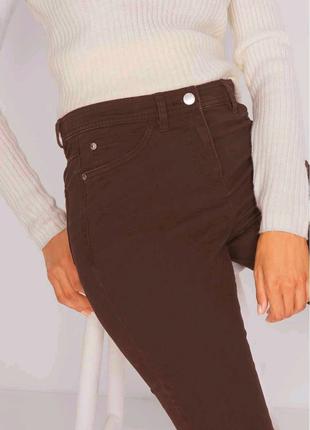 Женские Брюки коричневые ДжинсыSlim / стретчевые джинсы дудочки