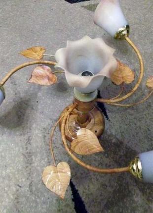 """Люстра """"Цветы с листвой"""" на 4 плафона"""