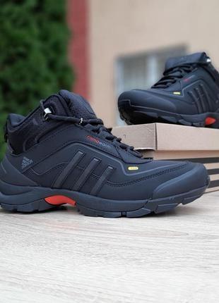 Кроссовки мужские adidas climawarm 350 чёрные с серым ❄️