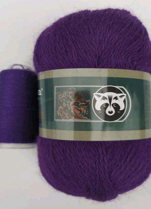 Пряжа для вязания пух норки 821