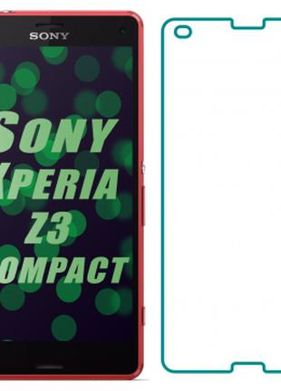 Защитное стекло на Sony Xperia Z3 Compact (Прозрачное 2.5 D 9H)
