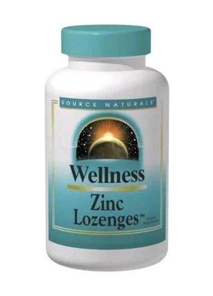 Пастилки с цинком, 23 мг, персик и малина, Wellness, 120 штук