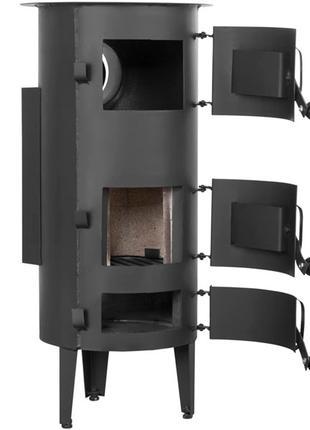 Стальная печь на дровах с конфоркой 6 кВт Ackerman w3 PW3