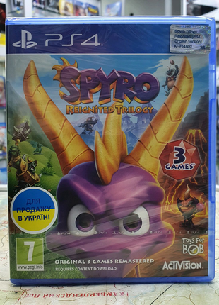 Игра Spyro Reignited Trilogy для Sony PlayStation 4 новый диск