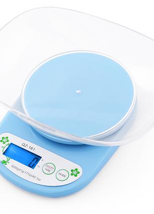 Весы кухонные QZ 161A - 5кг (1г) + чаша.