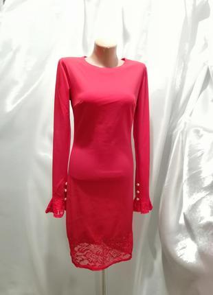 Платье стрейч гипюр кружево
