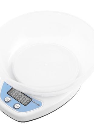 Весы кухонные QZ 129А -  5кг (1г), чаша