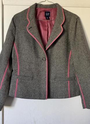 Тёплый пиджак gap р.10/s,м