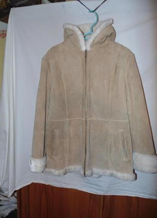 Пальто с капюшоном  куртка дубленка замшевая мех в gallery
