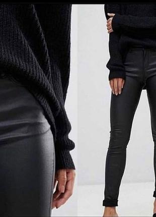 Кожаные лосины/брюки на флисе
