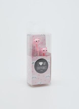 Розовые наушники котики коты hello kitty sinsay