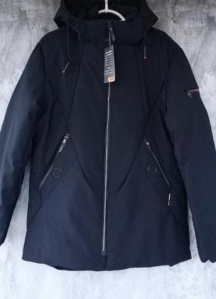 Мужская зимняя удлиненная куртка, утеплитель тинсулейт, качест...