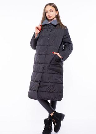 Акция: пальто женское двустороннее 110p042, пуховик стеганый