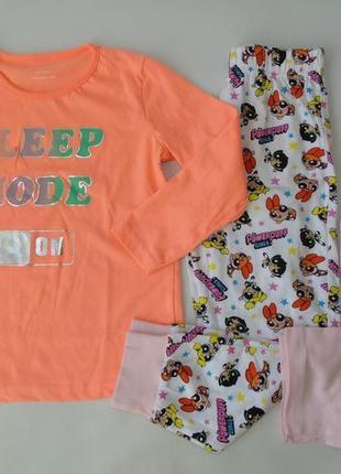 Пижама верх 2 штанов primark англия 4-5 л 110 см