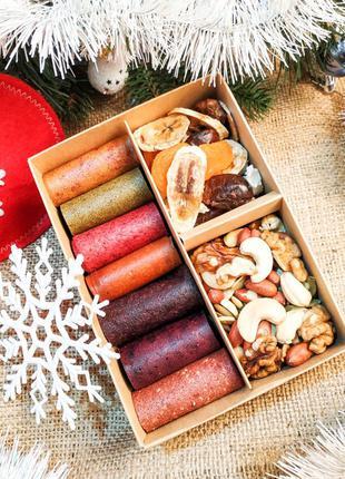 Подарок на Николая микс набор пастила орехи сухофрукты