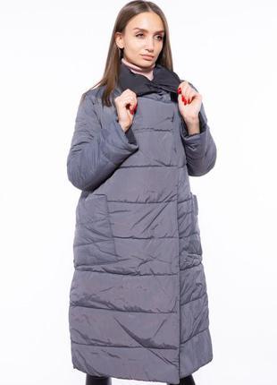 Акция: пальто женское двустороннее 110p042, пуховик стёганый