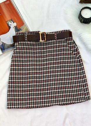 Твидовая юбка, теплая юбка