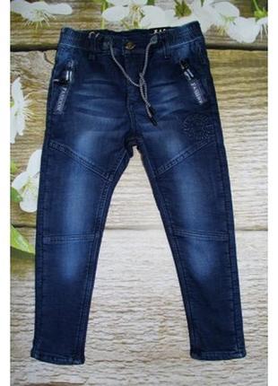 Утепленные джинсовые брюки