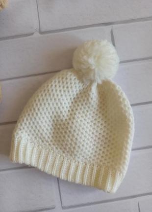 Шапка на девочку primark, шапка демисезонная для новорожденного