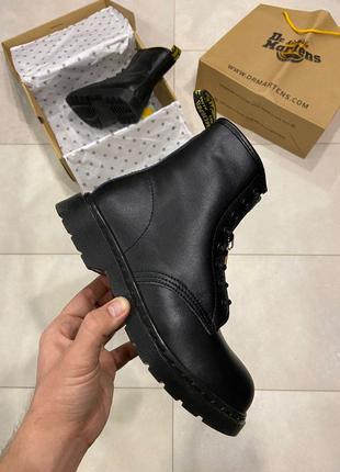 Ботинки Dr Martens 1460 Triple Black (Мех)