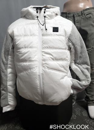 Куртка бомбер EVERLAST р.L Orlginal белая оверсайз унисекс