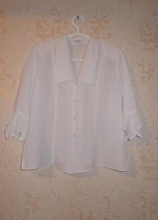 Белая блуза на пуговицах р. xxl