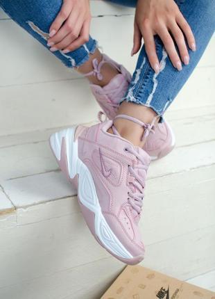 Nike m2k tekno pink white женские демисезонные кроссовки найк,...