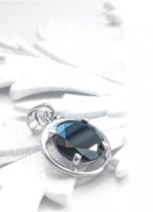 Подвес серебро 925 кулон вс019 синий