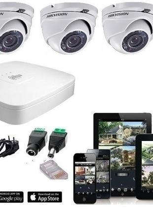 Комплект системы видеонаблюдения на 4 камеры 2мп