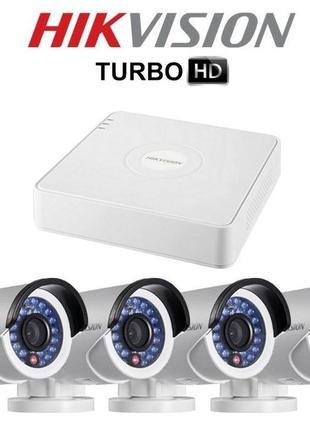 Комплект системы видеонаблюдения на 4 камеры для наружной установ