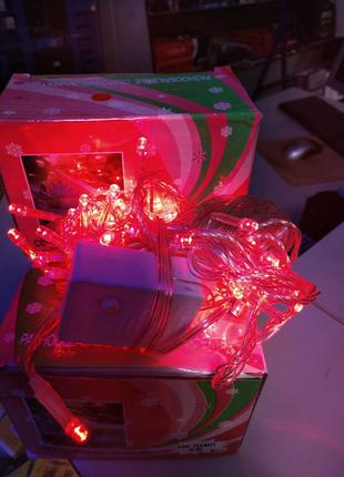 Гирлянда светодиодная NY - 100 LED Red 9 м