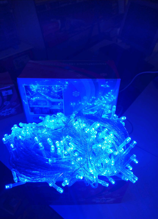 Гирлянда светодиодная NY - 300 LED x 25 м Blue