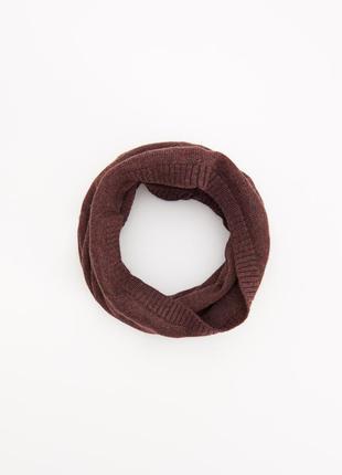 Новый фирменный полушерстяной шарф-труба снуд reserved
