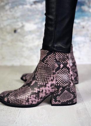 Натуральная кожа люксовые кожаные ботинки под рептилию на удоб...
